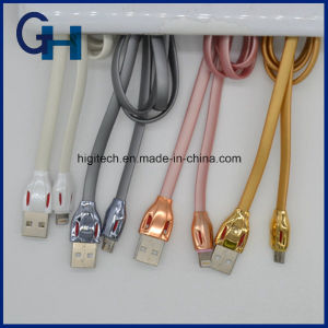 2016 Higi New Arrival Super Speed Gold 1m All in One Data USB Cable for iPhone 5 6 Andriod pictures & photos