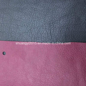 Be142 Two-Tone Classical Synthetic Leather (PU) for Bags pictures & photos