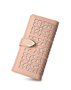 Best Selling Laser Flower Zipper PU Ladies Wallets pictures & photos