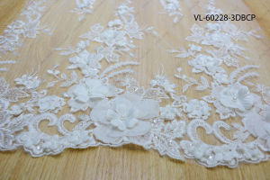 White Rayon Floral Lace Wedding Factory VL-60228-3DBCP pictures & photos
