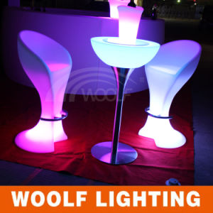 Bar Club Colored LED Lighted Stool Bar Chair Furniture pictures & photos