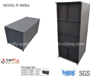 Aluminum Frame Adjustable Waterproof Outdoor Rattan Cushion Storage Box pictures & photos