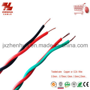 Rvs Electric Wire and Cable Twisted Copper Core for Household Appliance PVC Insulated Cable pictures & photos