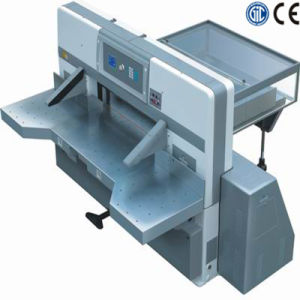 Program Control Double Worm Wheel Paper Cutting Machine (SQZK1150D-5) pictures & photos