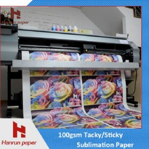 Fast Dry Sublimation Paper Roll, 44′′ 100GSM Full Sticky, Heavy Tacky Sublimation Transfer Paper for Sportswear pictures & photos