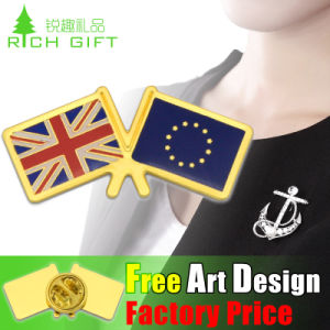 Wholesale Promotional USA Flag Logo Custom Pin Badge pictures & photos