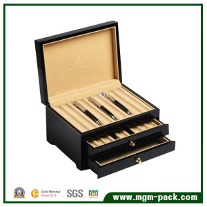 High Glossy Finish Elegant Black Wooden Pen Box pictures & photos
