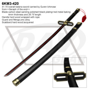 "41.75""Carbon Steel Katana Sword From <Seraph of The End> (6KM3-420) pictures & photos"