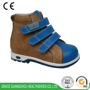 Grace Ortho Children Orthopedic Shoes with Nappa Leather Plus Action Leather Upper pictures & photos