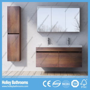 Modern Bathroom Vanities Set with Two Basins and Side Cabinets (BF126N) pictures & photos
