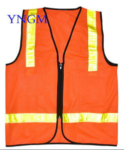 Safety Vest with Reflective Ribbon pictures & photos