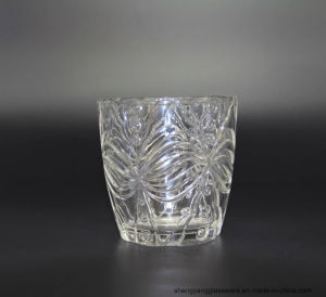 Hot Sell Glass Craft Transparent Embossed Candle Cup, Glass Candle Holders pictures & photos