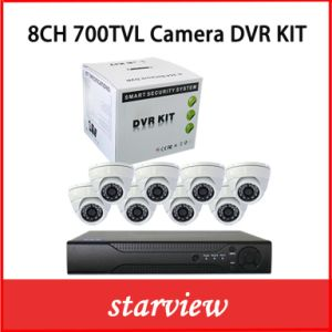8CH DVR Kits +700tvl Sony CCD Indoor Dome Cameras pictures & photos