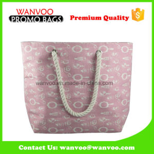 100% Cotton Large Women Tote Travel Beach Bag with Rope pictures & photos