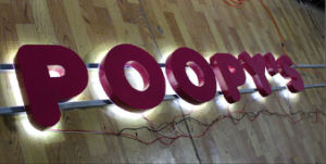 Waterproof Advertising Stainless Steel LED Backlit Channel Letter Sign pictures & photos
