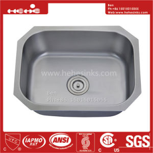 23-1/4 X 17-3/4 Inch Stainless Steel Under Mount Single Bowl Kitchen Sink pictures & photos