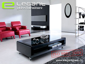 European Style Glass Coffee Table with MDF Base in 2015 pictures & photos