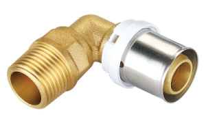 Brass Pipe Fitting with Male Elbow Union Bf-1008 pictures & photos