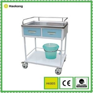 Hospital Furniture for Medical Treatment Trolley (HK805B) pictures & photos