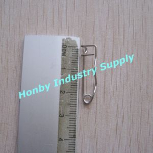 Good Quality 25mm Nickel Plated Steel Crimp Safety Pin (P160322A) pictures & photos
