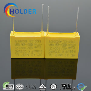 New Box Metallized Polypropylene Film Capacitor (X2 0.68UF/275V E4) pictures & photos
