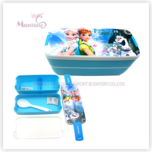 Hot Selling Plastic Bento Kids Lunch Box with Lock (750ml) pictures & photos