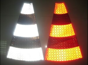 PVC Reflective Material Banner for Traffic Safety Road Cone pictures & photos