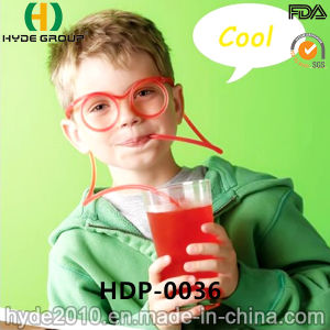 Funny Plastic Gasses Drinking Straw for Juice (HDP-0036) pictures & photos