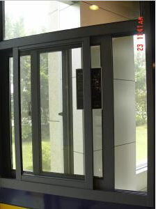 Exterior Tempered Glass Aluminum Sliding Window with Mosquito Net