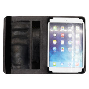 Hand Hold Bracket Tablet Phone Leather Cases with Card Holder pictures & photos