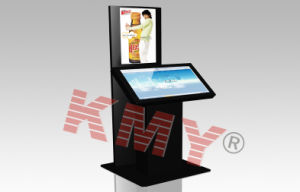 Shopping Mall Double Saw Touch Screen Self Service Kiosk with Keyboard pictures & photos