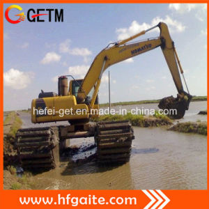 Amphibious Dredger for Pond Excavation