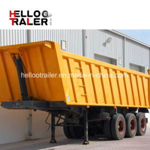 3 Axles Gravel Transport End Tipping Semi Trailer Single Dump Semi Trailer pictures & photos