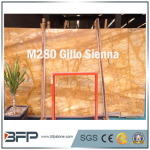 Gillo Golden Color Natural Marble Slabs/Tiles pictures & photos