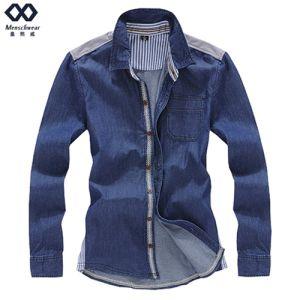 Men Demin Shirt Ready Made Fashion Coat