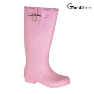 Ladies Rainboot with Adjustable Strap pictures & photos