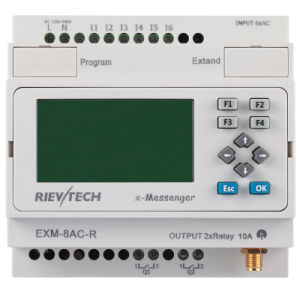 GSM/SMS/GPRS PLC, Ideal Solution for Remote Control& Monitoring &Alarming Applications (EXM-8AC-R-HMI) pictures & photos