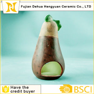 Ceramic Eggplant Candle Holder Arts for Halloween Decoration pictures & photos