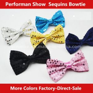 Shiny Sequins Polyester Street Magic Show Kids Bow Tie pictures & photos
