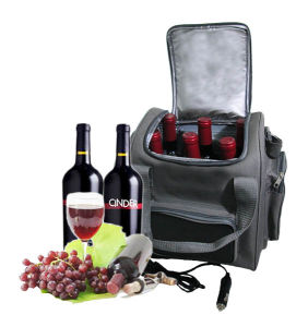 Portable Electronic Soft Cooler Bag 13liter DC12V for Cooling Red Wine pictures & photos