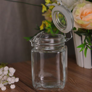 Wholesale Square Clear Glass Jar Food Storage Container pictures & photos