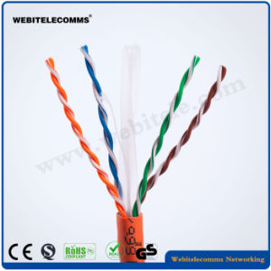 Fluke Test 23AWG 0.58mm Bare Copper UTP CAT6 Cable pictures & photos