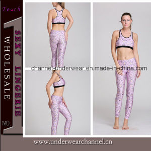 Wholesale Flower Printed Fitness Sports Yoga Wear (TMY8912) pictures & photos