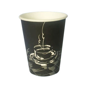 Wholesale 12oz Black Paper Coffee Cup pictures & photos
