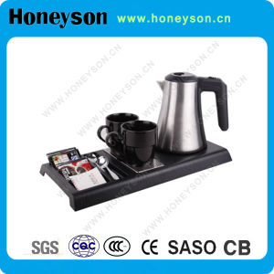 Hotel 0.8L Stainless Steel Electric Kettle Tray Set pictures & photos