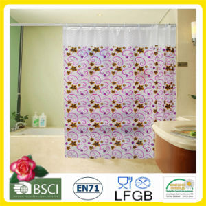 Plastic PVC/EVA Printed Shower Curtain Factory Wholesale pictures & photos