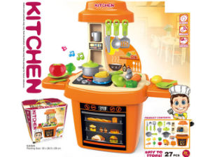 Plastic Kids Kitchen Set with Music and Light (H5931056) pictures & photos