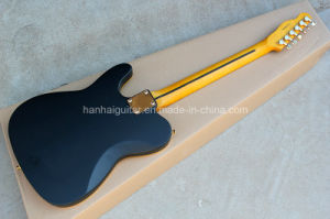 Hanhai Music / Black Tele Style Electric Guitar with Yellow Binding pictures & photos