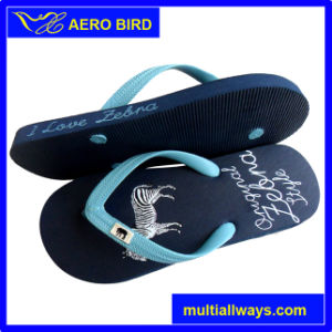 Woman PE Slipper with PVC Straps (14G037) pictures & photos