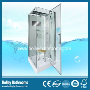 Hot Selling Computer Display Outdoor Shower Enclosure with Top and Panel Lamps (SR111W)